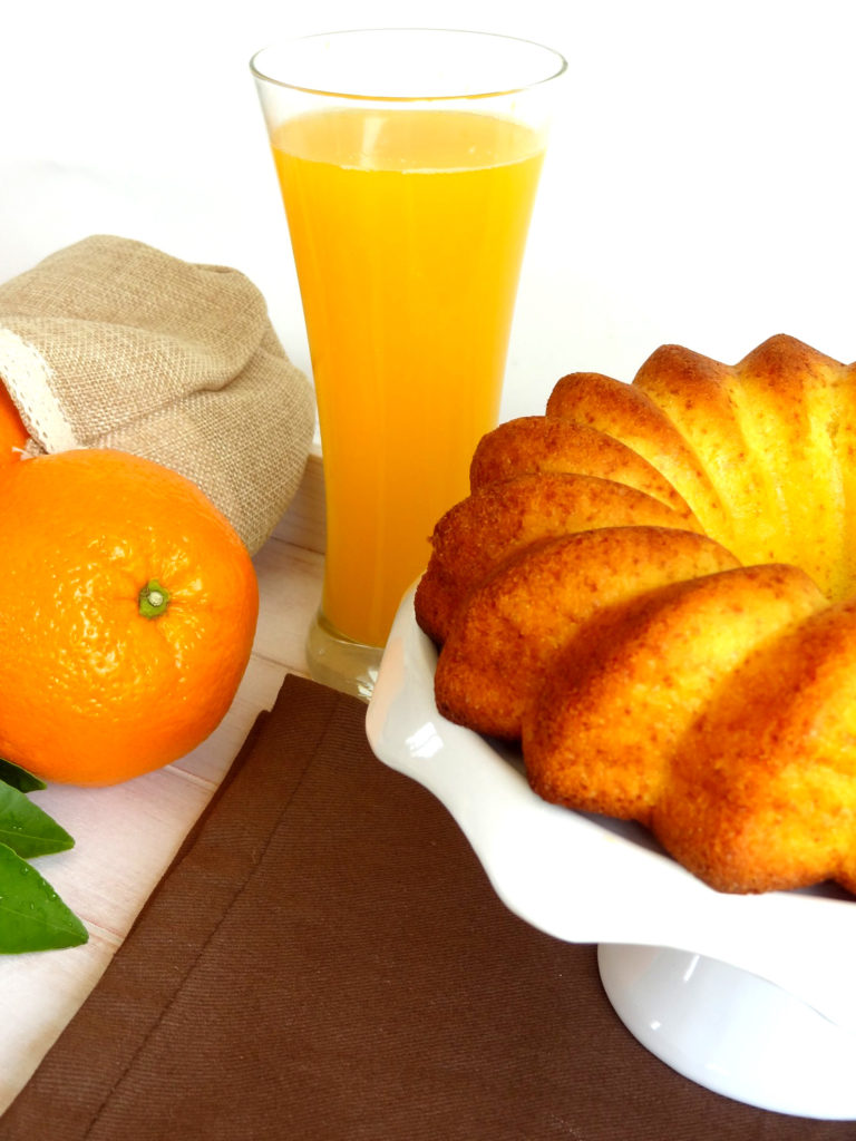 Foto de la receta de bundt cake de naranja