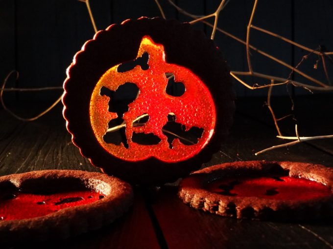 Foto de la receta de galletas de chocolate para Halloween