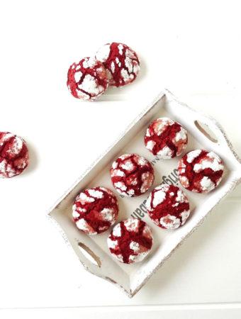 Foto de la receta de galletas red velvet craqueladas