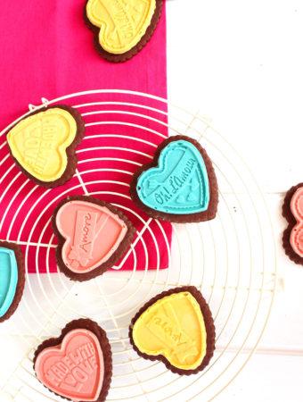 Foto de la receta de galletas de chocolate para San Valentín