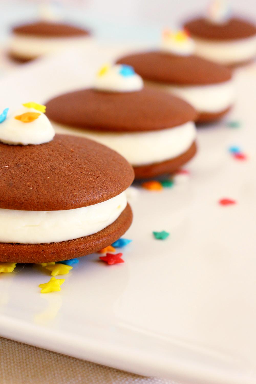 Foto de la receta de whoopie pie de chocolate