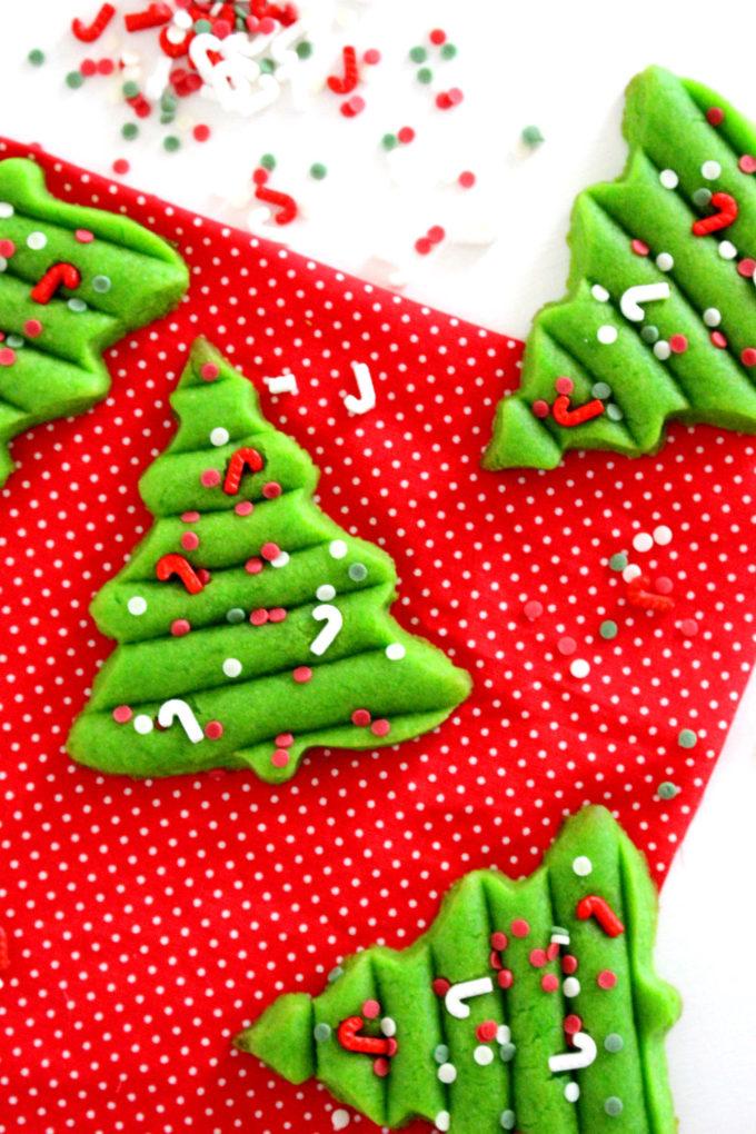 Foto de la receta de galletas de Navidad en forma de árbol