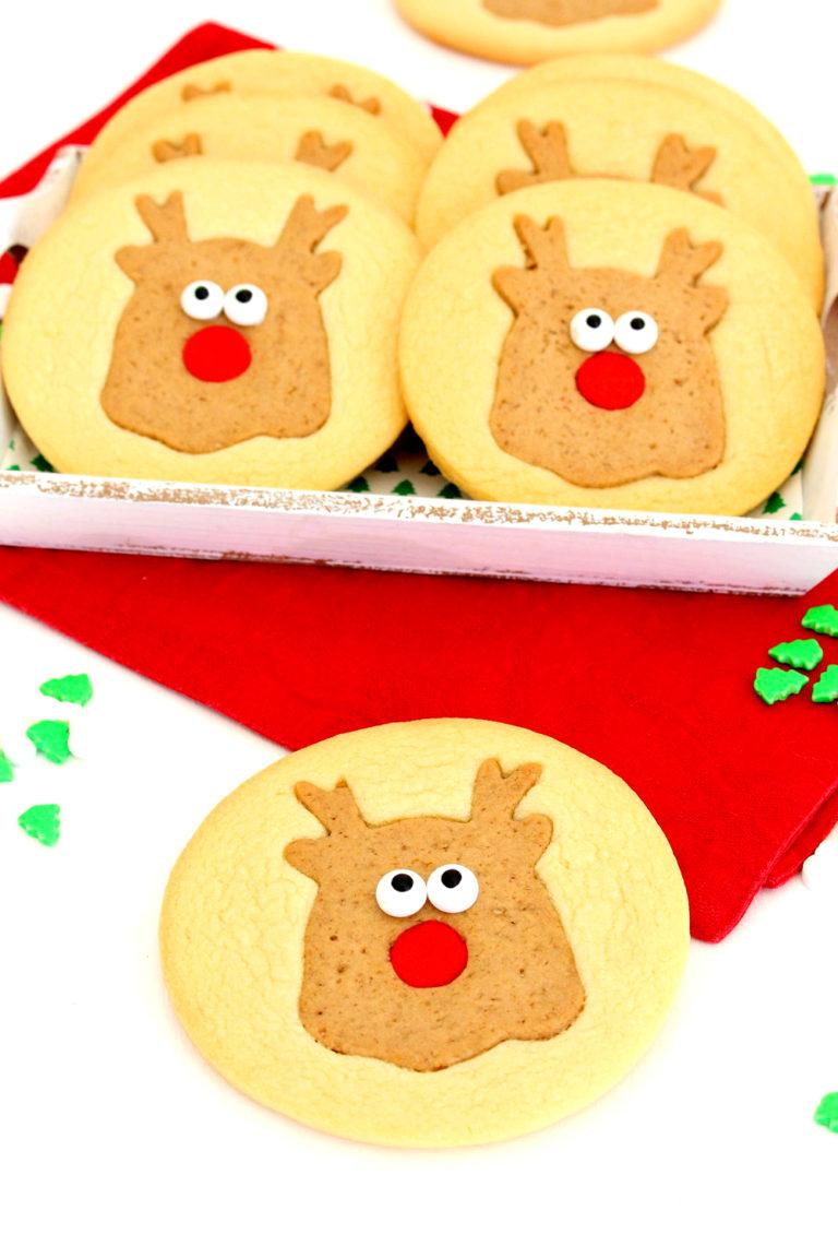 Foto de la receta de galletas de Navidad en forma de reno