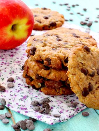 Foto de la receta de galletas de mantequilla de cacahuete y manzana