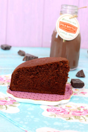 Foto de la receta de bizcocho de chocolate
