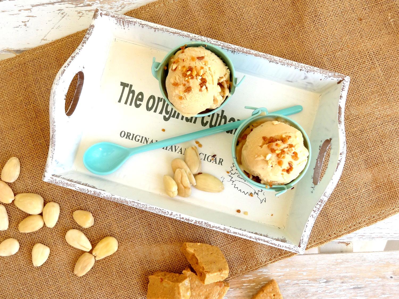 Foto de la receta de helado de turrón de Jijona