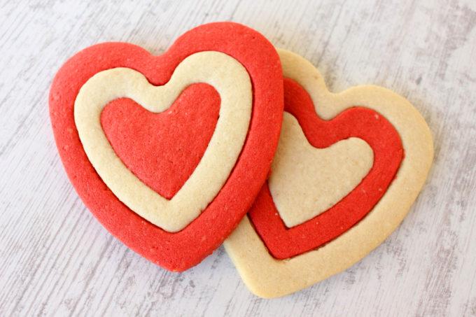 Foto de la receta de galletas de mantequilla con almendra para San valentín