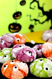 Foto de la receta de galletas monstruosas para Halloween