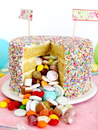 Foto de la receta de tarta de cumpleaños sorpresa