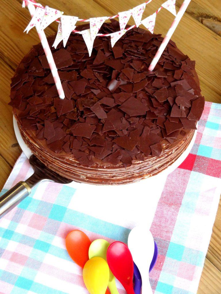 Foto de la receta de tarta huesitos con Nutella