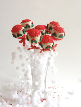 Cake pops para navidad de turr...