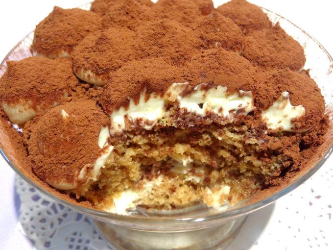 Foto de la receta de tiramisú sin huevo