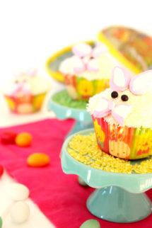 Foto de la receta de cupcakes de Pascua en forma de de conejo de Pascua
