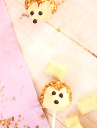 Cake pops sin molde en forma d...