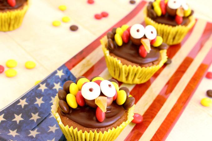 Foto de la receta cupcake de chocolate en forma de pavos