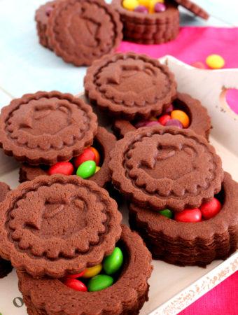 Foto de la receta de galletas de chocolate sorpresa