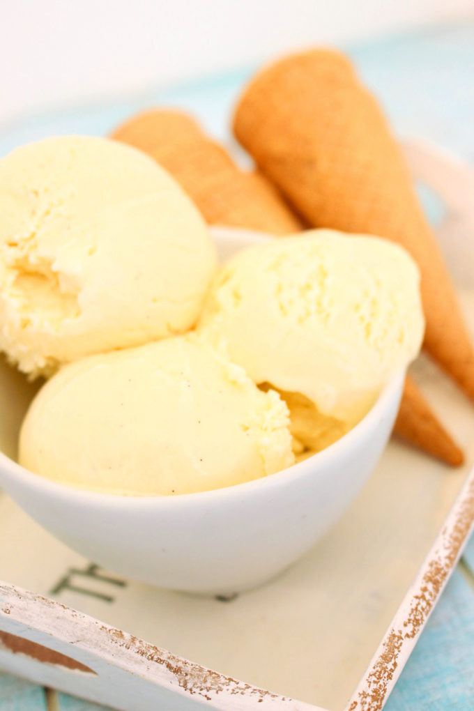 Foto de la receta de helado de vainilla casero