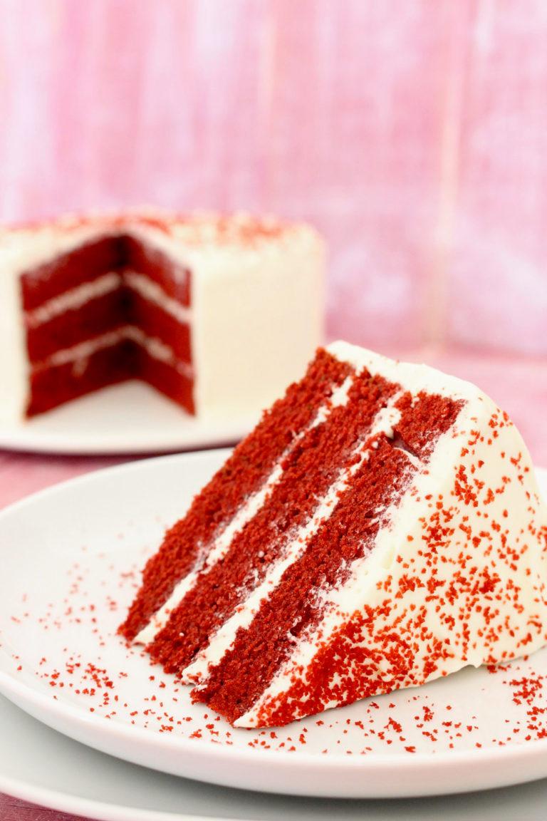 Foto de la receta de tarta red velvet layer cake