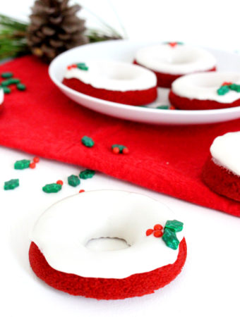 Foto de la receta de red velvet donuts