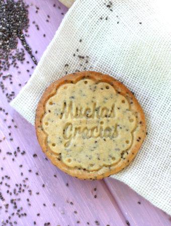 Foto de la receta de galletas de mantequilla con semillas de chía