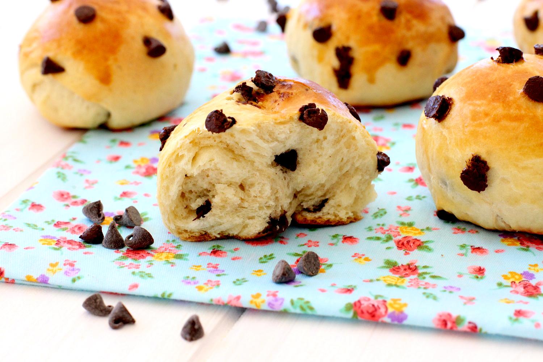 Pan dulce con chips de chocolate - Recetas fáciles de masas