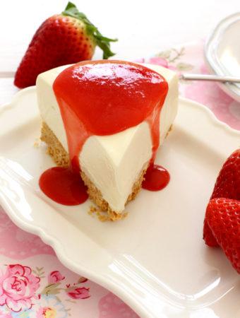 Foto de la receta de tarta de queso sin horno