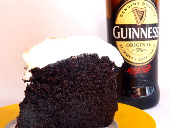 Foto de la receta de tarta de chocolate con Guinnes