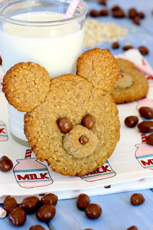 Foto de la receta de galletas de avena para niños en forma de osos