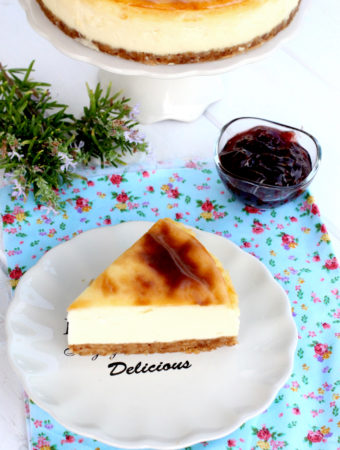 Foto de la receta de New York cheesecake casera