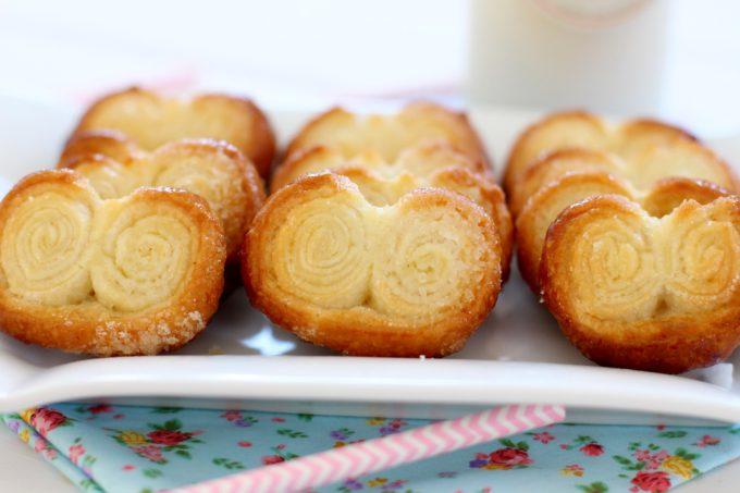 Foto de la receta de palmeritas de hojaldre