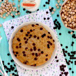 Foto de la receta de galleta-bizcocho a la sartén con chips