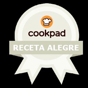 Sello para el ganador del concurso de la receta más alegre de Cookpad
