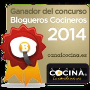 Sello de ganadora de blogueros cocineros 2014