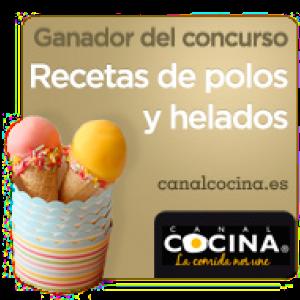 Sello de ganadora del concurso Recetas de polos y helados