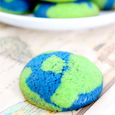 Foto de la receta de galletas de vainilla en forma de mundo