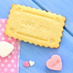 Foto de la receta de galletas de mantequilla para San Valentín