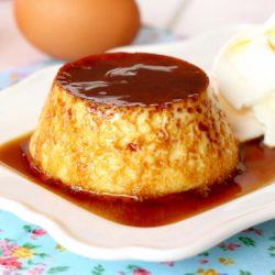 Foto de la receta de flan de huevo casero