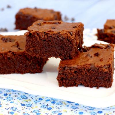 Foto de la receta de brownie de chocolate