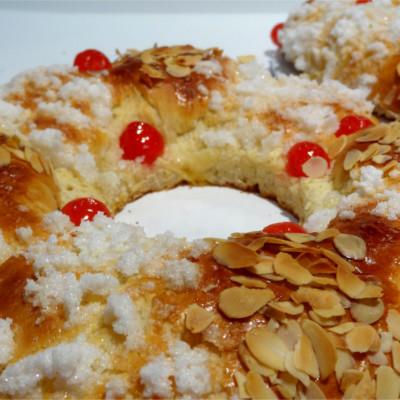 Foto de la receta de roscón de reyes casero