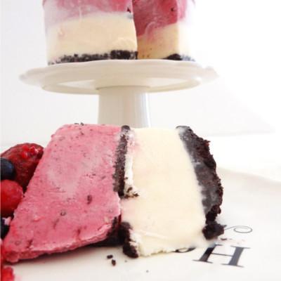 Foto de la receta de cheesecake de frutos del bosque