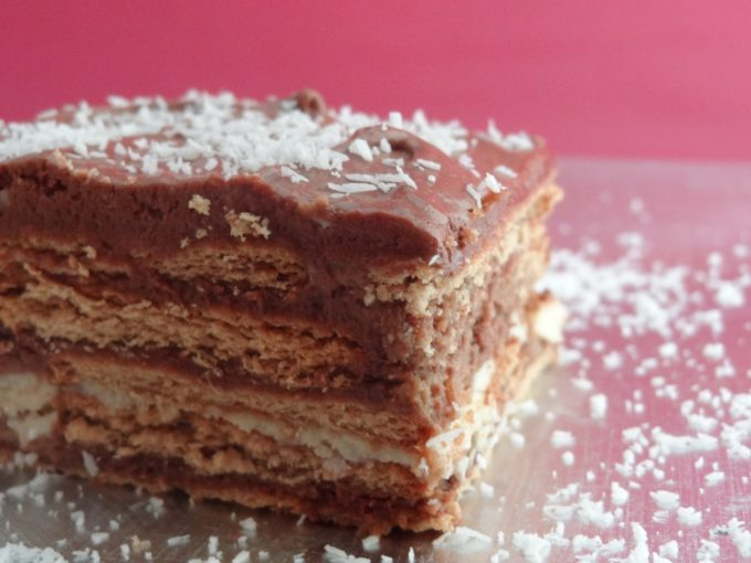 Fotos de la receta de tarta de galletas con chocolate