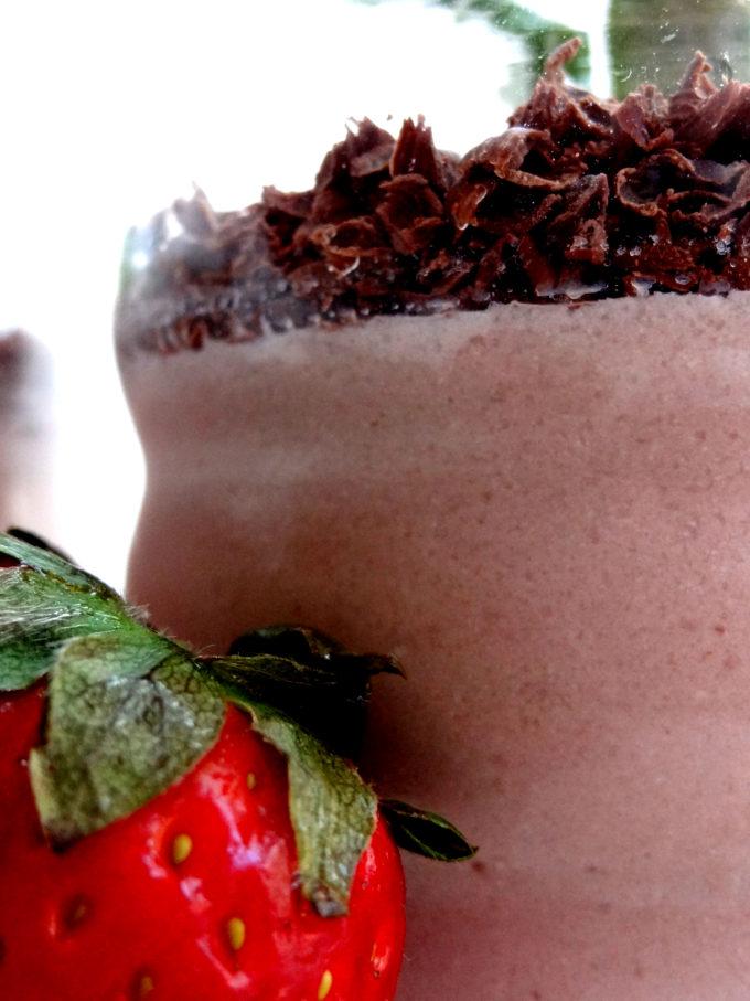 Foto de la receta de natillas de fresa y chocolate