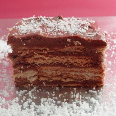 Fotos de la receta de tarta de galletas y chocolate